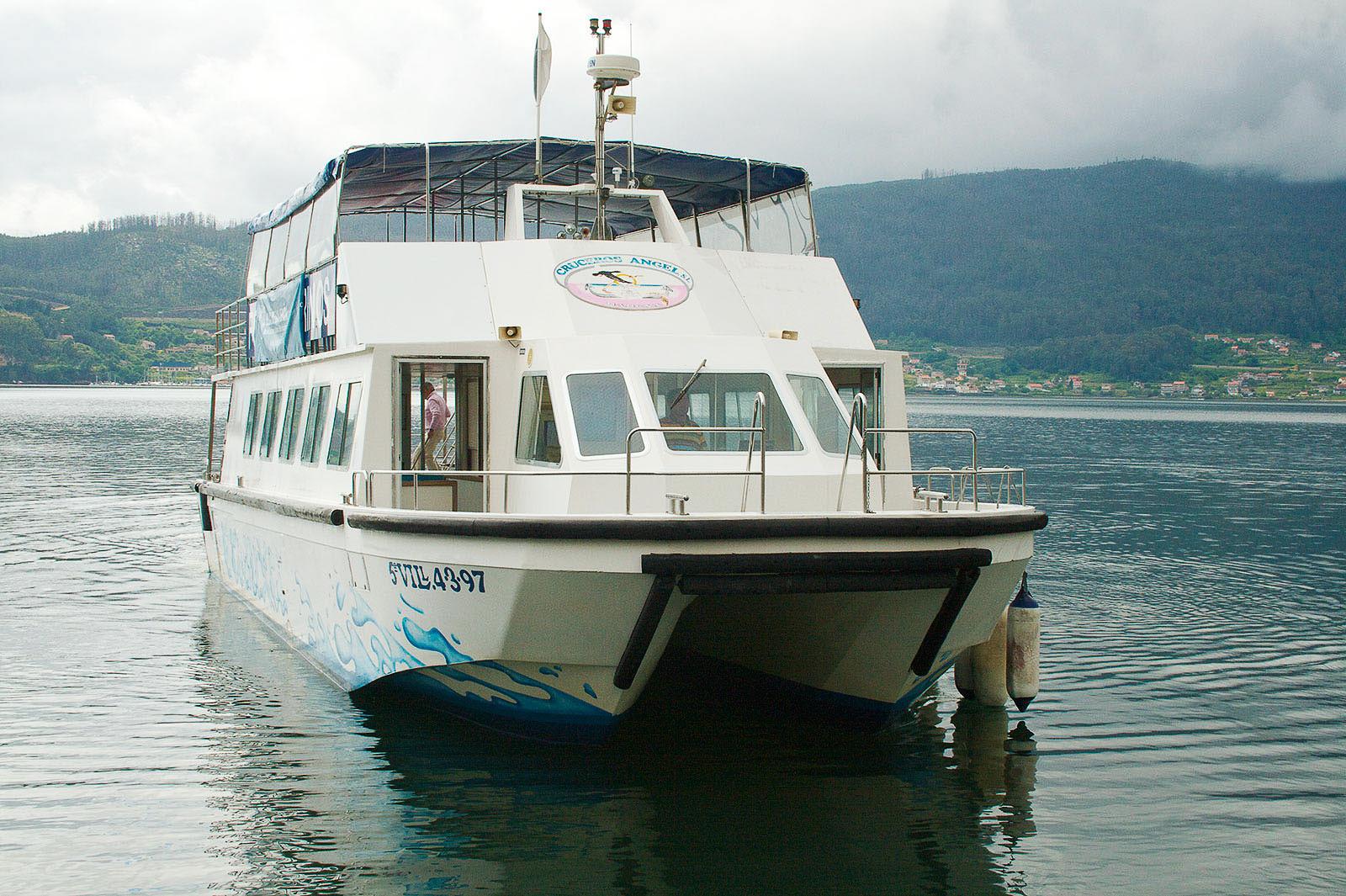 Vista general del barco Babuxa